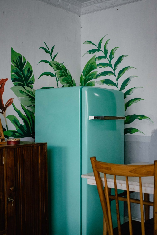Зелений холодильник