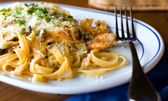 Спагеті з печерицями та горгондзолою