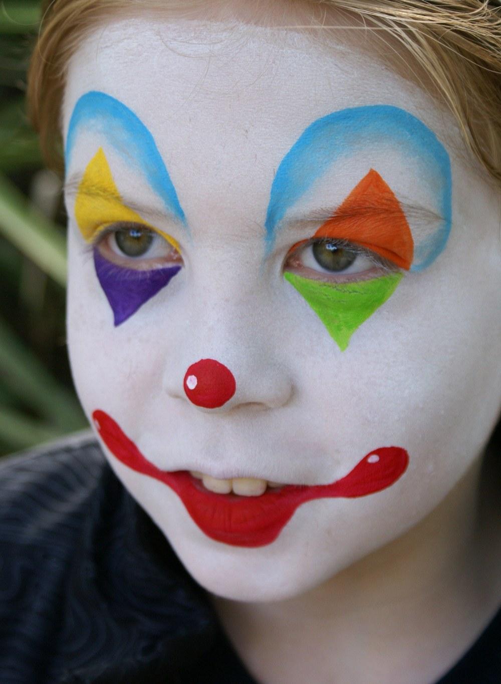 Аквагрим клоун