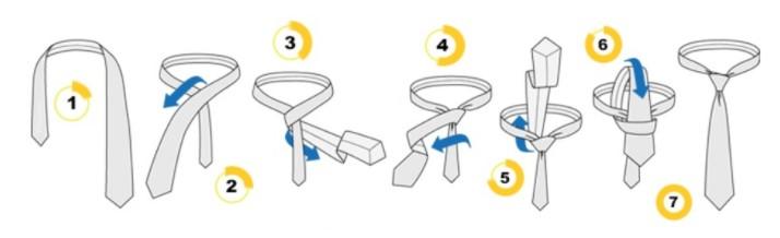 Як зав'язати краватку простим вузлом