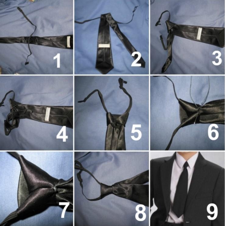 Як зав'язати краватку на гумці