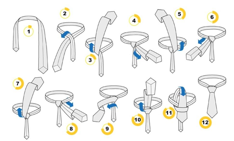 """Як зав'язувати краватку вузлом """"Бальтус"""""""