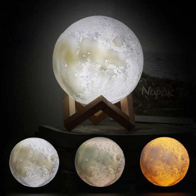 Дитячий нічник світильник Місяць 3D AVVS tech Moon Lamp i5.9