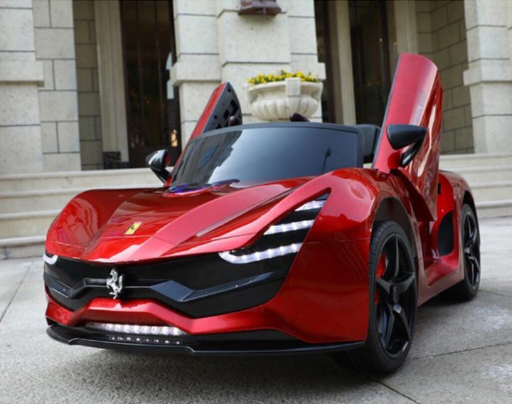 Електромобіль Kidsauto Ferrari LaFerrari style Червоний лак (HZBB-7587)