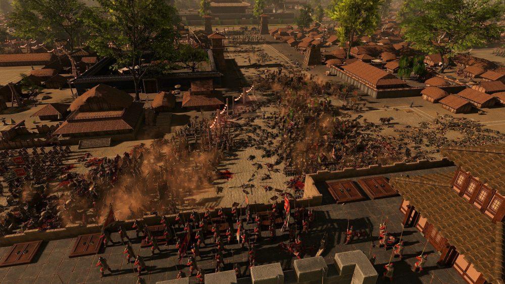 Скріншот з TW: Three Kingdoms під час облоги