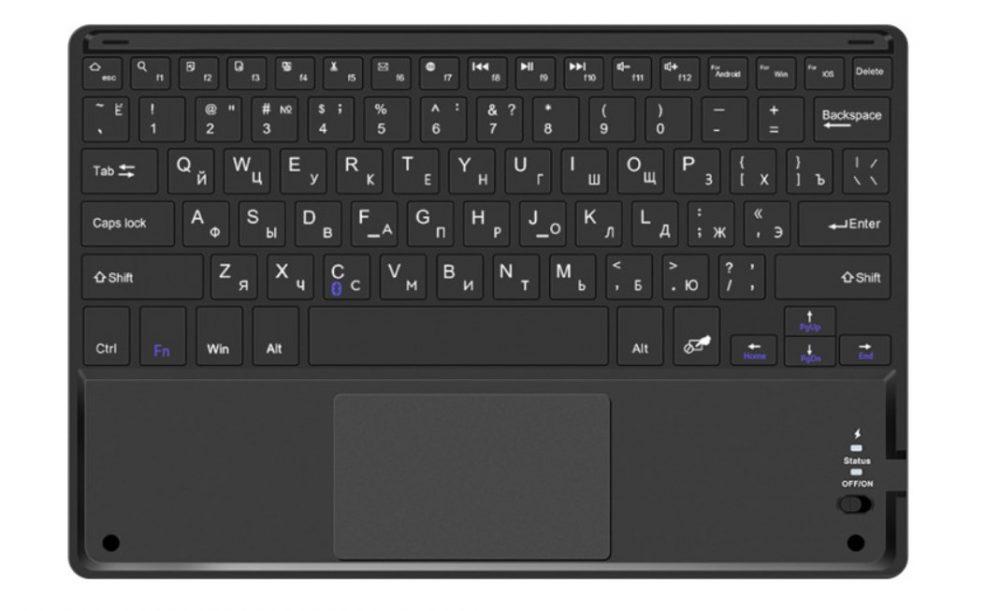 Клавиатура беспроводная AIRON Easy Tap для Smart TV и планшета с тачпадом