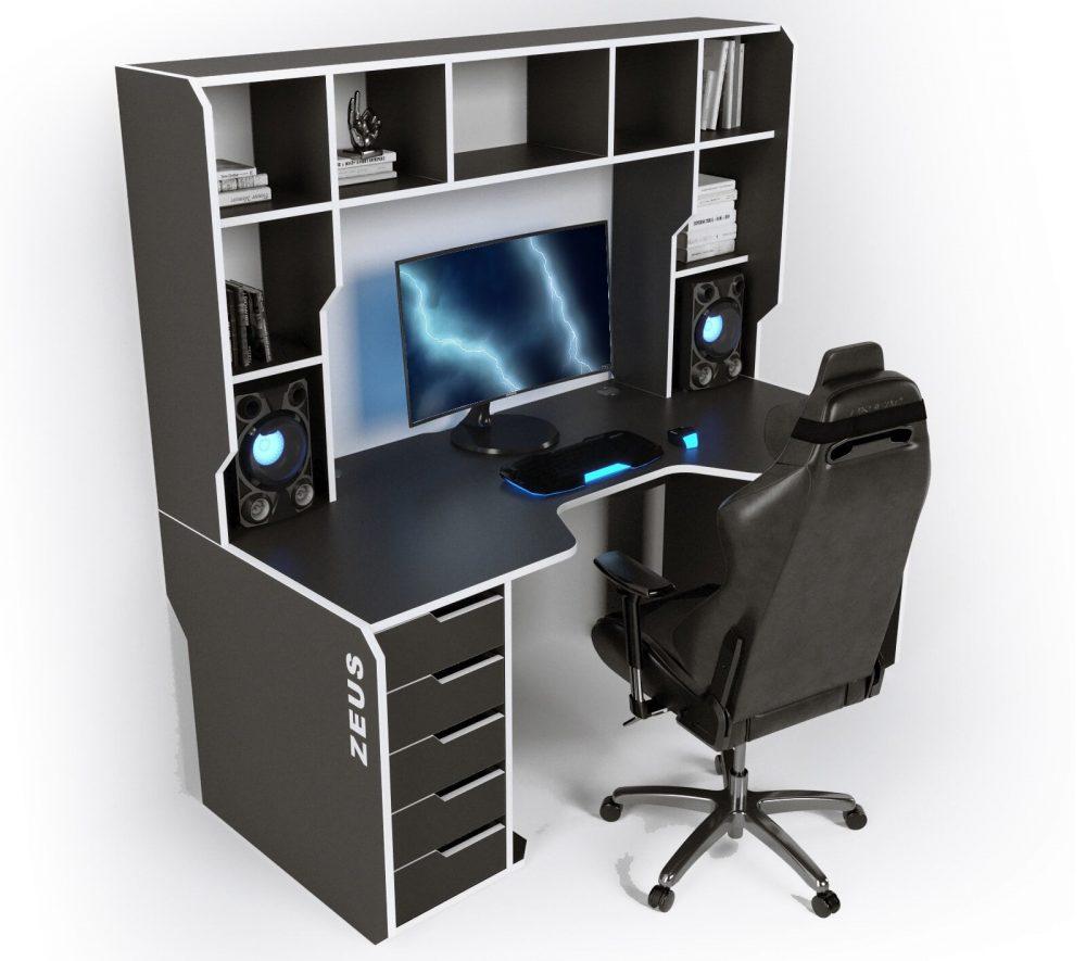 Геймерский стол с надстройкой ZEUS VIKING-3L