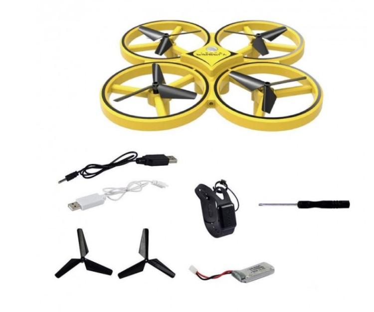 Ручной мини дрон для детей с перчаткой управления рукой и датчиками препятствий Drone 928 PLUS