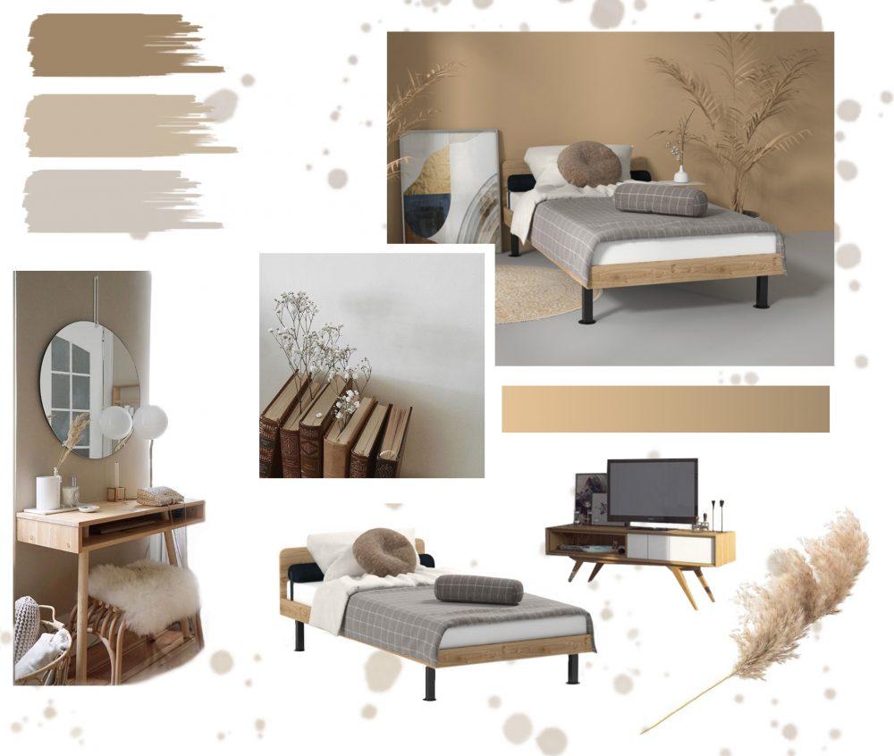 Дизайн спальні в скандинавському стилі