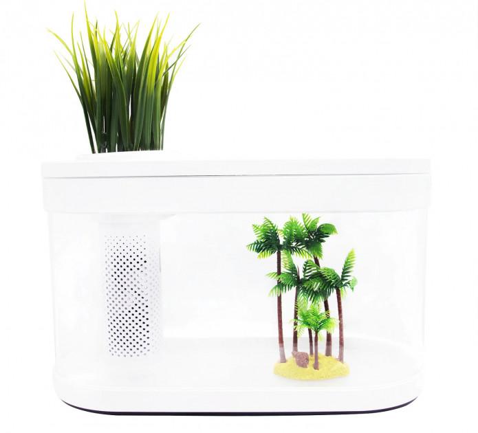 Акваріум Xiaomi Geometry Fish Tank Aquaponics Ecosystem 10 л White HF-JHYG001
