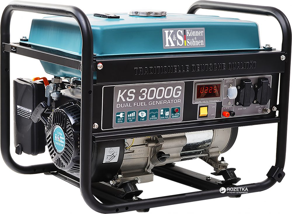 Генератор газобензиновый Konner&Sohnen KS 3000G