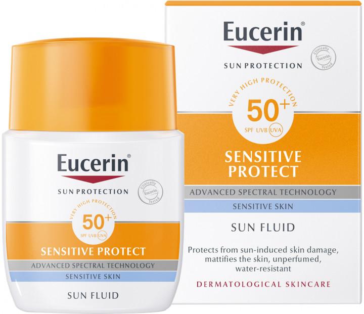 Солнцезащитный флюид для лица Eucerin
