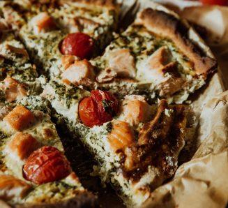 Пиріг із сиром і зеленню