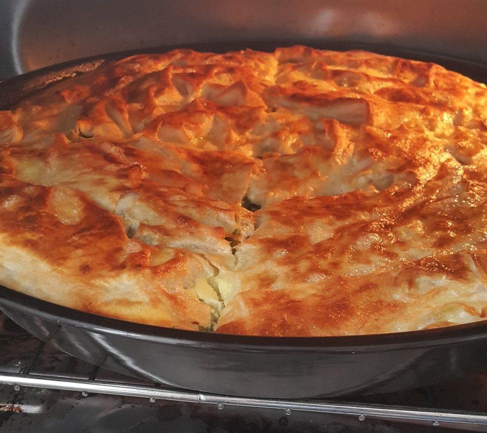 Турецкий пирог с сыром и зеленью