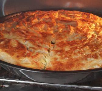 Турецький пиріг із сиром і зеленню