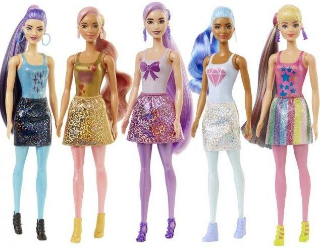 """Лялька-сюрприз Barbie Кольорове перевтілення (серія """"Блискучі"""")"""