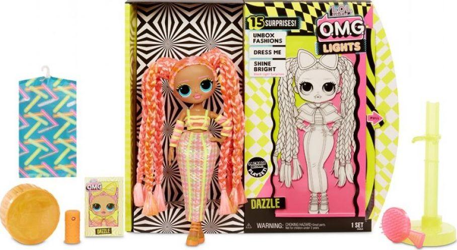 Лялька з аксесуарами L.O.L. Surprise Lights Dazzle (серія O.M.G.)