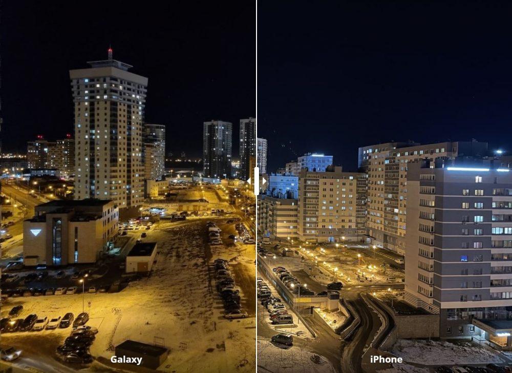 Сравнение фото iPhone 12 и Galaxy S21