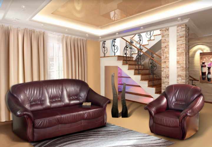 Комплект Диван 3-х місний розкладний + крісло Жасмин Modern