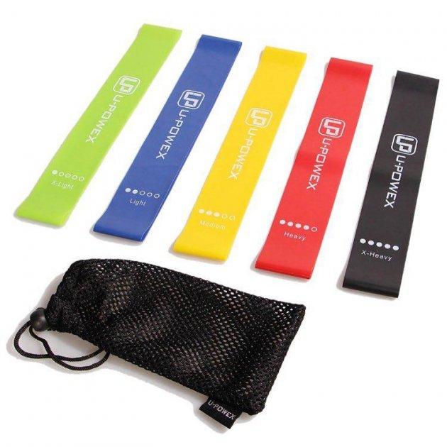 Комплект спортивних резинок для фітнесу та йоги U-Powex