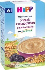 Молочная каша HiPP 5 злаков с черносливом и пребиотиками
