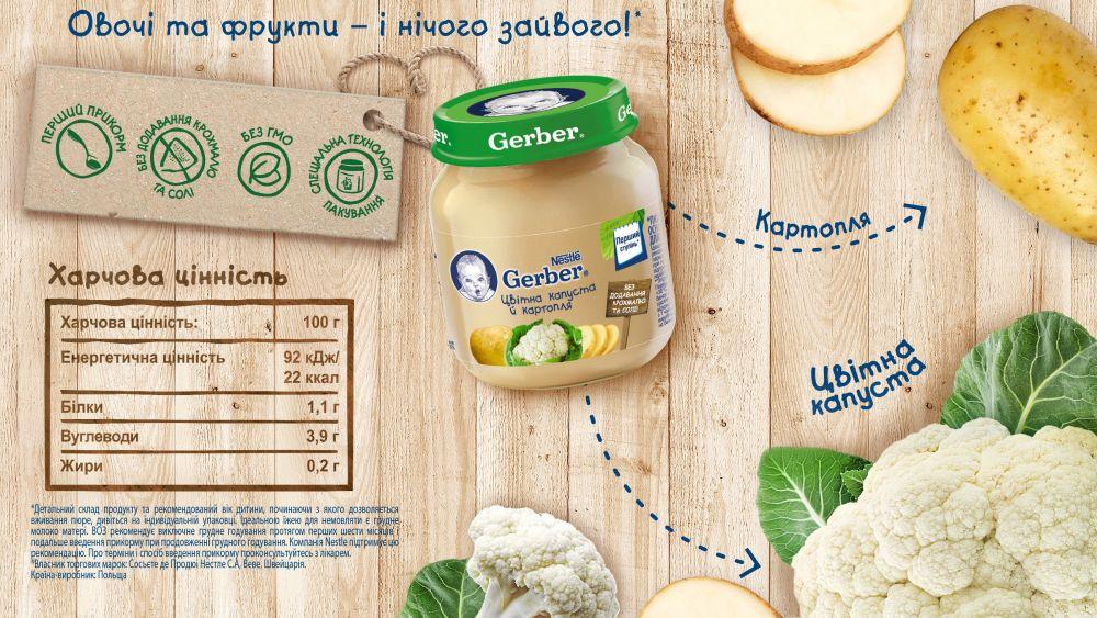 Пюре Gerber Овощной микс