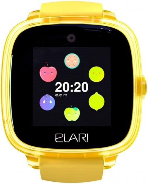 Дитячий смарт-годинник із GPS-трекером Elari KidPhone Fresh Yellow